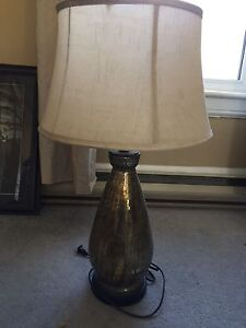 Designer gold fleck lamp