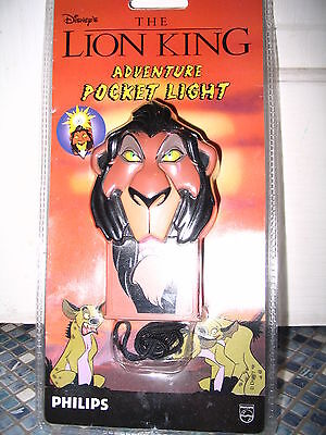 DISNEY SCAR LION KING ADVENTURE POCKET LIGHT BRAND NEW VERY RARE COLLECTORS ITEM