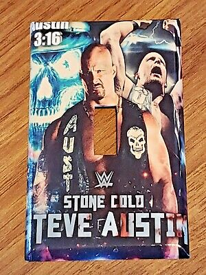 New WWE Stone Cold Steve Austin Handmade Custom Light Switch Wall Plate Cover Light Switch Cover Stone