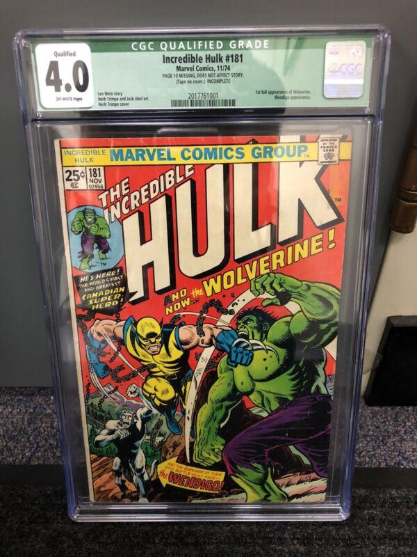 The Incredible Hulk #181 CGC 4.0