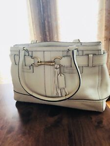 """Authentic Coach """"tassel"""" 100% leather special edition bag"""