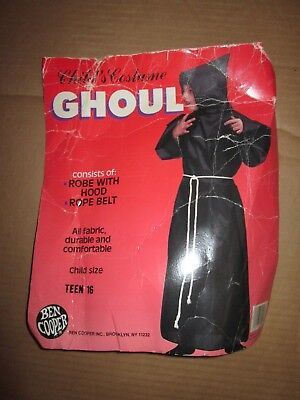 Boys GHOUL GHOST Halloween Costume sz 16