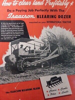 Isaacson Klearing Dozer Implement For Crawler Tractor Farm Color Sales Brochure