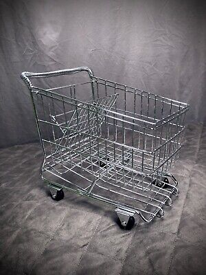 Toy Mini 12 Doll Metal Grocery Store Buggy Shopping Cart Basket