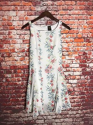Disney Alice Through The Looking Glass Colleen Atwood White Floral Sun Dress Xs