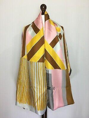 Pierre-Louis Mascia Double Sided Scarf Cashmere Silk Geometric Print Authentic