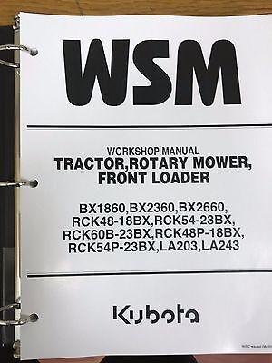 Kubota Bx1860 Bx2360 Bx2660 Tractor Workshop Service Manual