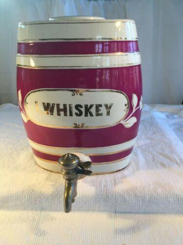 Ironstone 19th Century Olde English Pub Irish Whiskey Barrel