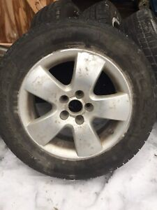 VW Jetta alloy wheels and tires