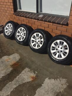 """15 """" inch ford mags wheels in  condition with roadworthy tyres"""