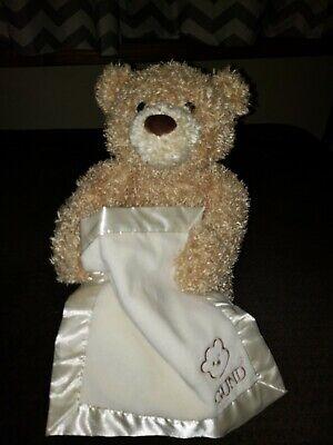 "10"" Sitting Baby Gund Peek A Boo Bear Talking Moving Plush Stuffed Animal Toy"