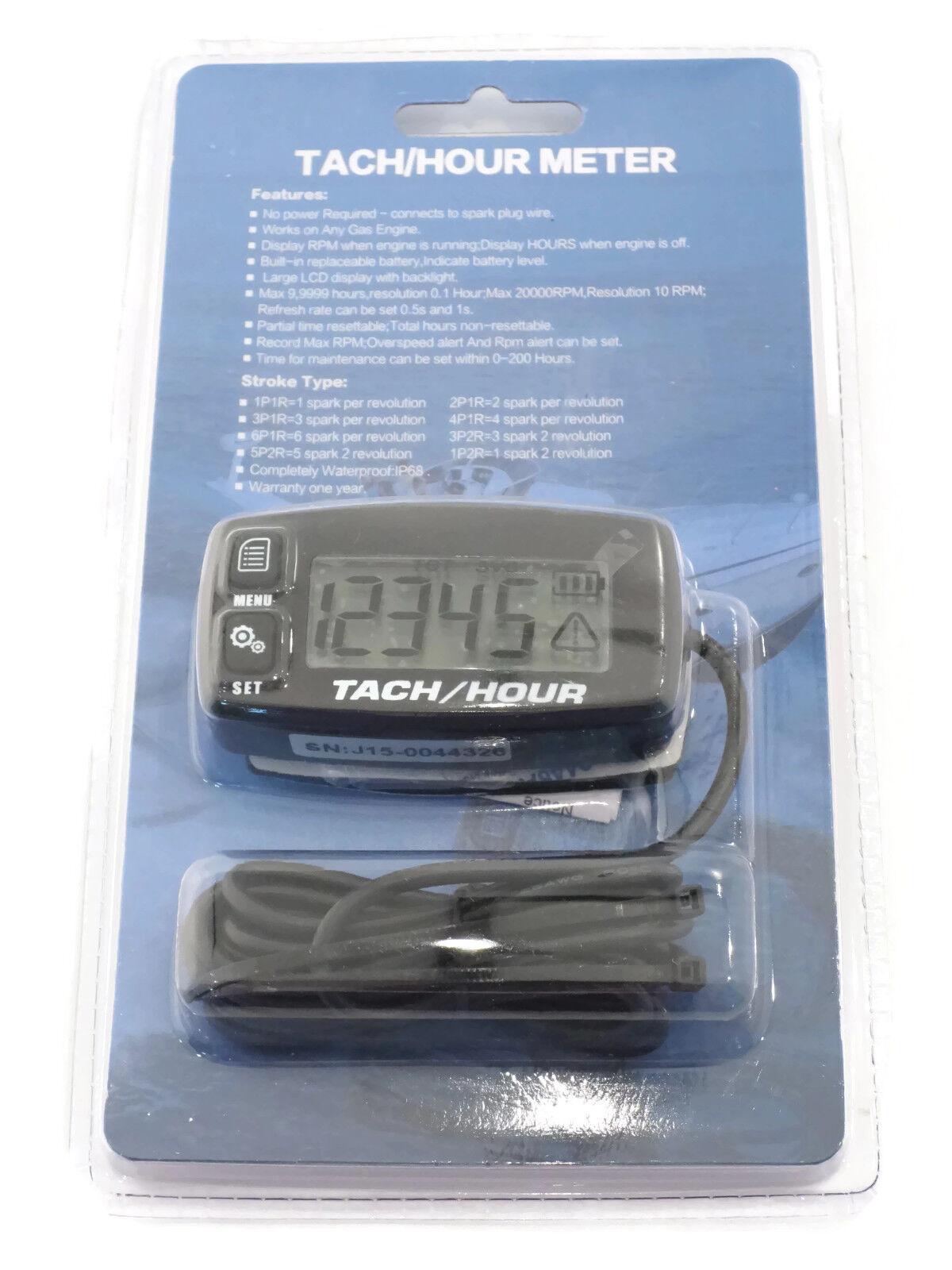 Aftermarket Hour Meter : Backlit digital hour meter tachometer for yamaha yz yzf
