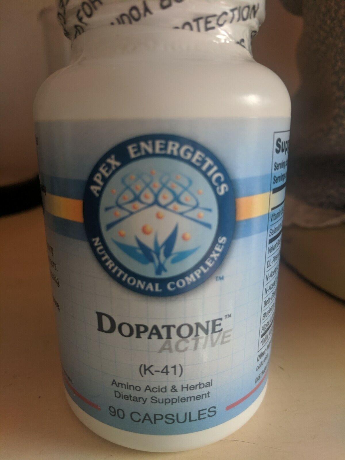 Apex Energetics Dopatone Active 90 Capsules (K-41) FREE SHIPPING