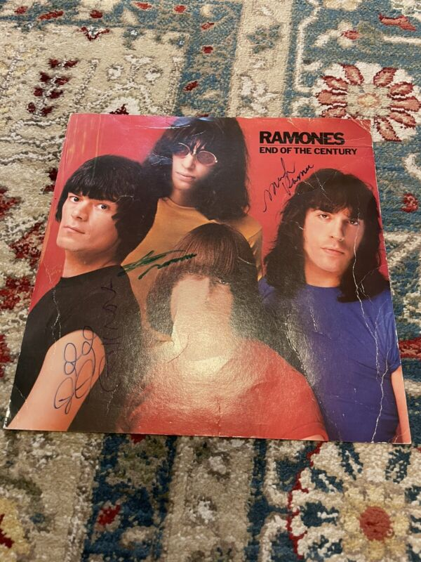 Ramones Signed album flat - Autographed By 3 - Joey, DeeDee, And Marky