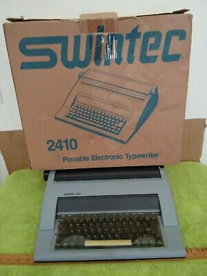 Swintec 2410 Portable Electric Typewriter Daisy Wheel With Instruction Manual