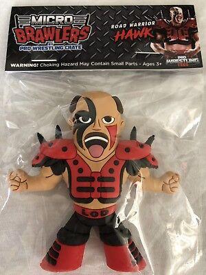 065ca7abe4f ROAD WARRIOR HAWK Micro Brawlers Pro Wrestling Crate Exclusive Figure WWE  WCW