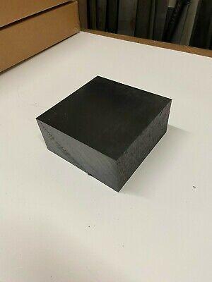 2 12 Black Delrin Block Acetal Sheet 5.375 X 5.375 Cnc Millstock