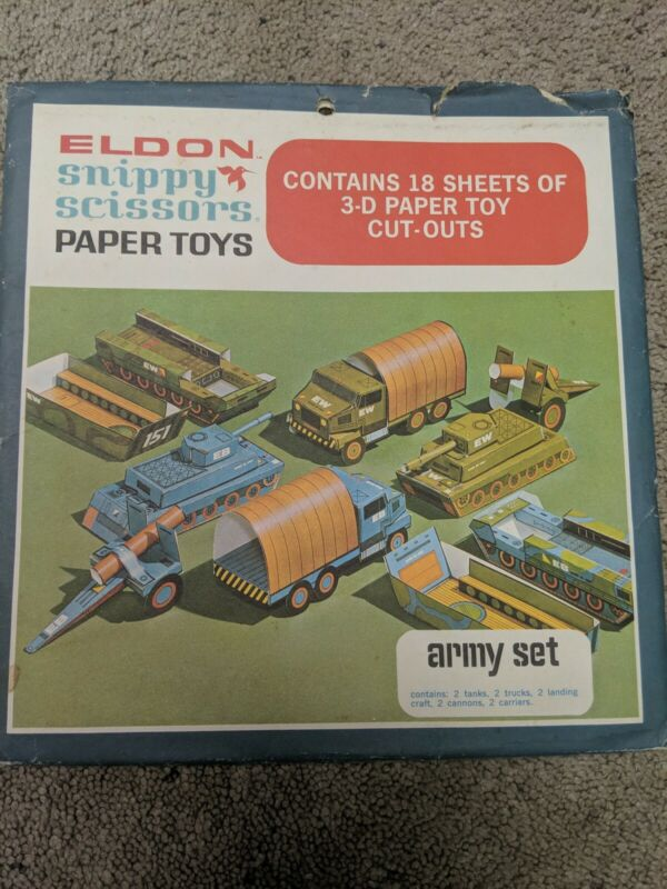 Eldon Snippy Scissors Paper Toys Army Set