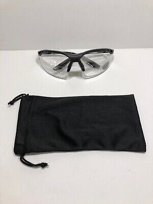 Bifocal Safety Glasses Clear Lens with Reading Corner - Diopter/+1.00 (Safety Glasses With Reading Lens)