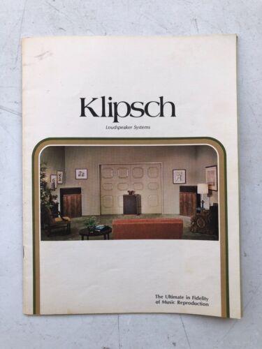 KLIPSCH SPEAKERS INFORMATION BOOKLET