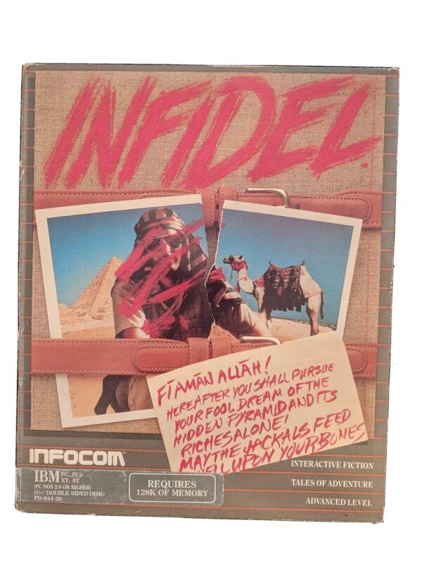 Vintage INFOCOM INFIDEL 1984 IBM PC 5.25 disk Big Box complete with paperwork
