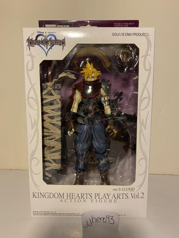 Kingdom Hearts Play Arts Volume 2 Cloud Strife Disney Square Enix- New in Box