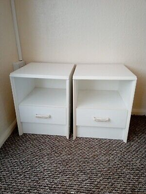Two Matching Pair Vintage Bedside Cabinets Used Collection Only
