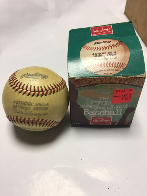 Vintage, Rawlings Charles S. Feeney Baseball, Ball in Box, Unused Condition