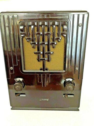 Mint 1933 Sonora S5 Totally Art Deco Design Tube Radio Working Condition