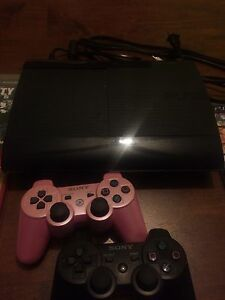 PS3 bundle w/ 2 controllers, gta 5 & more games