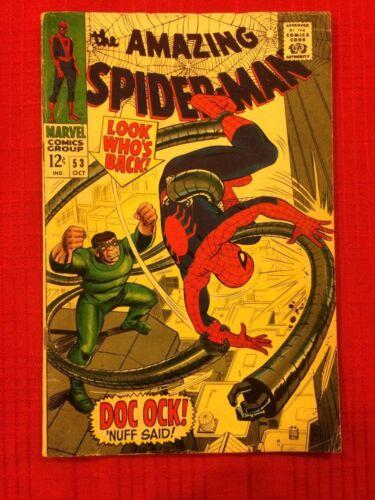 AMAZING SPIDER-MAN #53 (Marvel Comics 1967) Doc Ock, STAN LEE & JOHN ROMITA