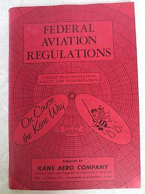 VINTAGE 1972-73 KANE AERO COMPANY - FEDERAL AVIATION REGULATIONS - ENGINE LOG