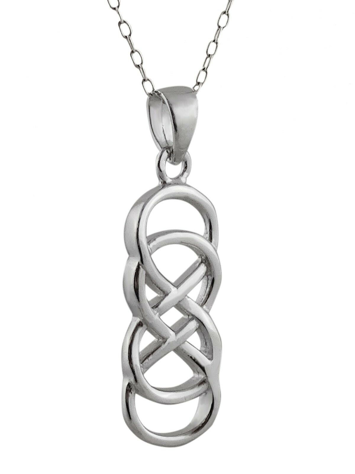 Double Infinity Sign Necklace - 925 Sterling Silver Pendant