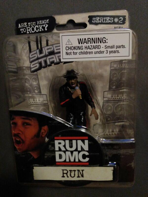 "RUN DMC ""RUN"" Figure 2009 Rap Super Stars Series 2 MOC 3.5"""