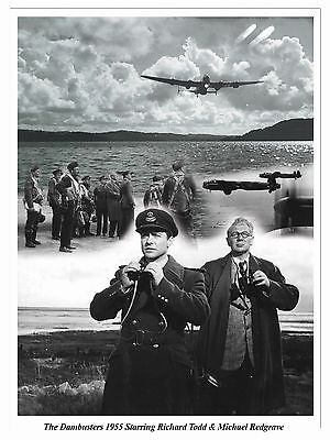 """THE DAMBUSTERS Montage Artwork Tribute 16"""" x 12"""" Photo Poster"""