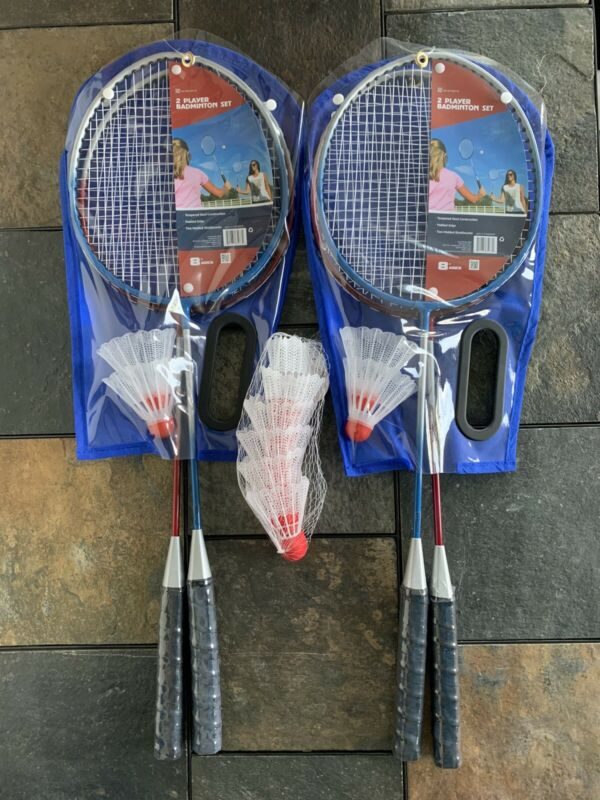 4 Badminton Racquet Set w/4+6 shuttlecocks-BackYard/Outdoor Family Activity Game