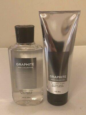 Bath & Body Works Graphite Body Wash Body Cream Pick (Graphite Body)