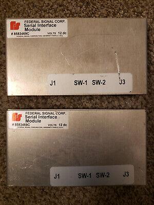 Federal Signal 8583469c Lightbar Serial Interface Module