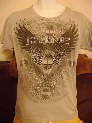 JOURNEY CONCERT T-SHIRT-ADULT SML- 2 SIDED.  2009 TOUR-ROCK  SHIRT