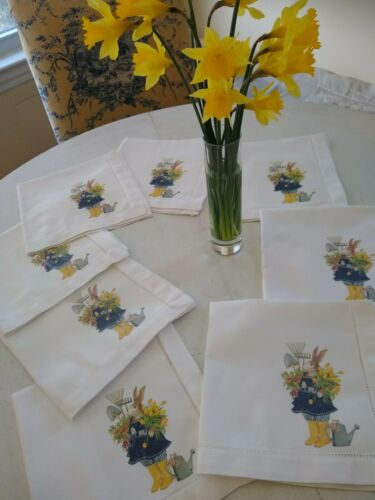 Vintage Easter Napkins / 10 / Country Bunny !