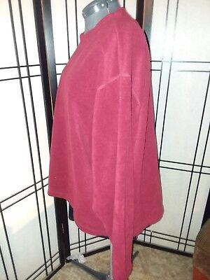 Basic Editions Maroon Oversized Soft Women's Sweatshirt Plus-size 2X