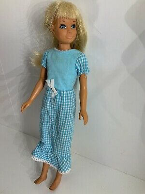 Vintage Mod 1971 Blonde Sun Set Malibu TNT Skipper Barbie Doll
