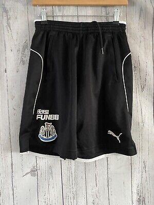 Mens Puma Newcastle United Black Football Traininf Shorts Sixe Medium Good Cond