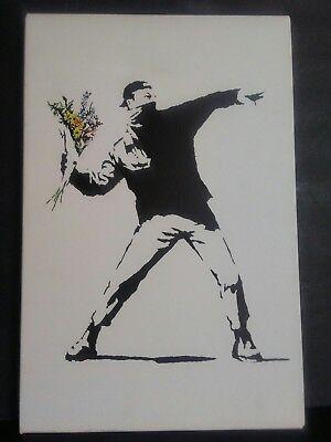 """iCanvas Rage, Flower Thrower Canvas Print Vinyl 12"""" x 18"""""""