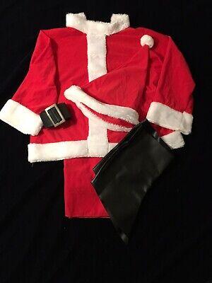 Santa Claus Costume Suit Child Medium 8-10](Santa Suit Kids)