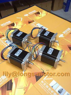 4pcs Nema23 Stepper Motor 78mm 270oz.in 4leads 3a 23hs8430 Cnc Kit Router