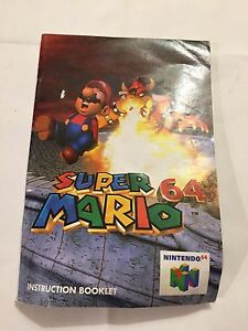 Nintendo 64 super Mario instruction booklet