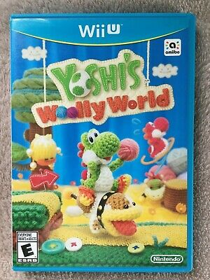 Yoshi's Woolly World (Nintendo Wii U, 2016)*Complete-Tested-Manual-Case*