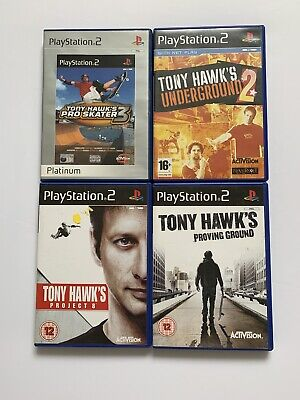 Tony Hawk's Bundle - Pro Skater 3 + Underground 2 + Project 8 -PlayStation 2 PS2