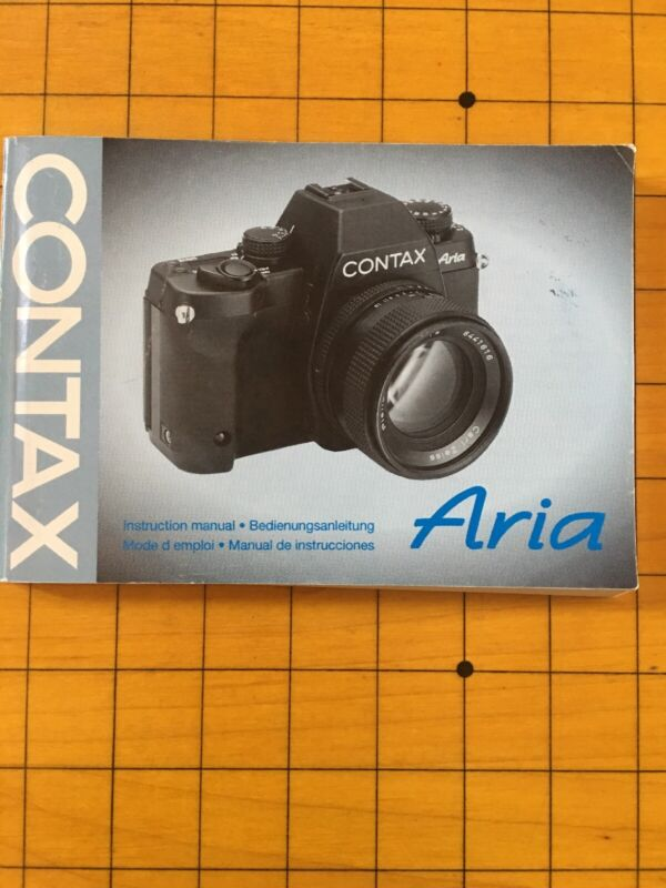 Contax Aria Instruction Manual